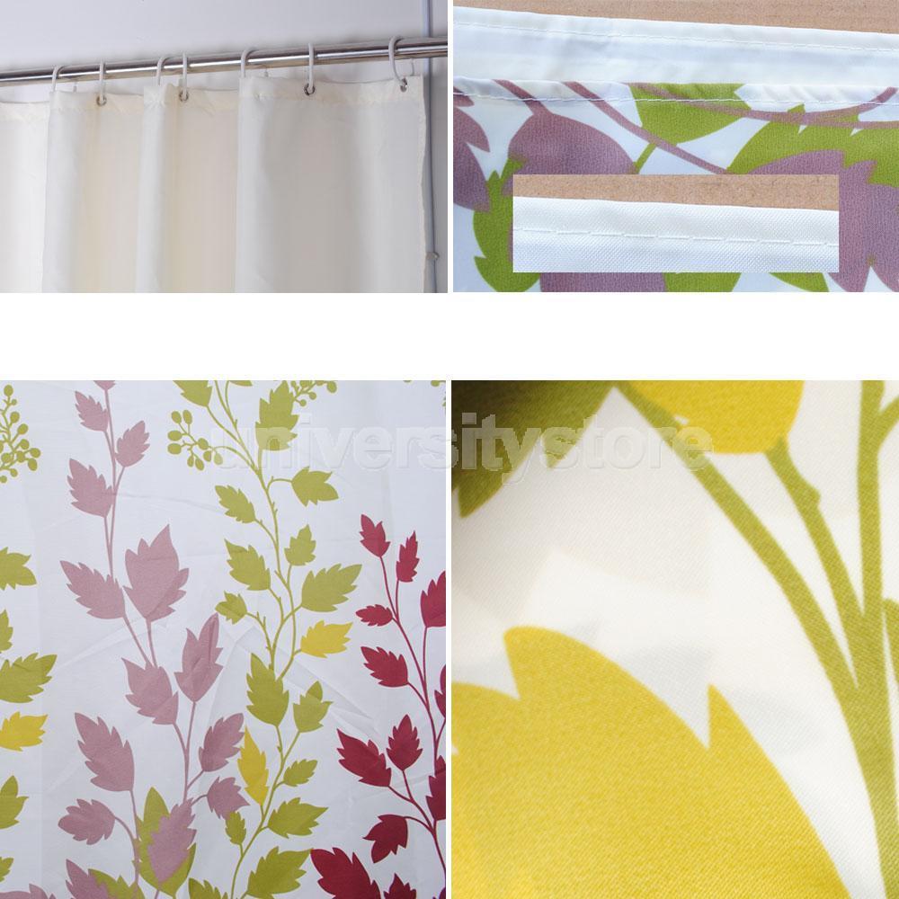 Cortinas De Baño Lavables:Resistente al agua cortinas de baño de tela Maple Leaf Home Decor 180