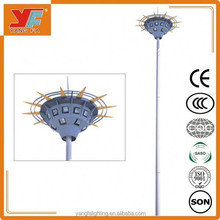 high quality led high mast lighting tower stainless steel for airport highway square outdoor lighting fot basketball court