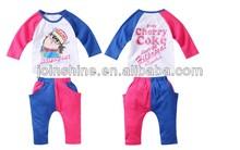 funny baby set de ropa al por mayor