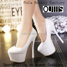 2015 Factory price patent PU candy color high heel fashion shoes sexy stiletto heel dress shoes PC3826