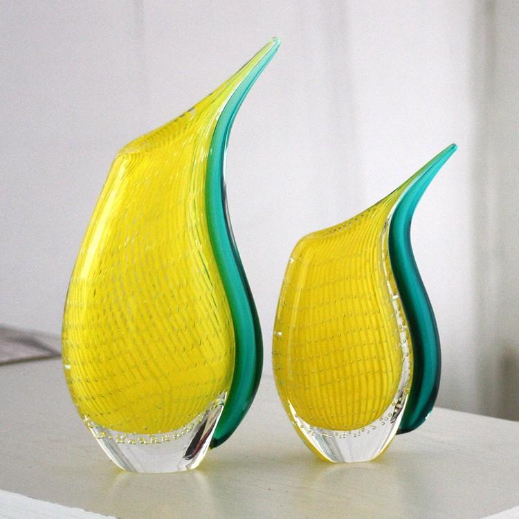 Yellow Custom Murano Glass Vase Buy Murano Glass Vase