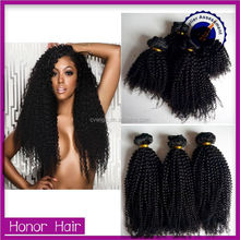 Top quality wholesale afro kinky curl brazilian human hair wet and wavy weave