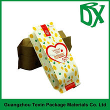 Guangzhou supplier customized white kraft snack packaging paper bags