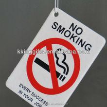 2015 warning board no smoling flavor sgs certification car air freshener