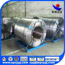 pure calcium cored wire calcium silicon alloy/pure silicon calcium as inoculant