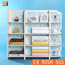 Wholesale portable cheap carved bookshelf