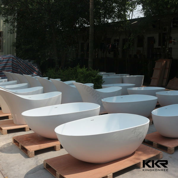 Free standing terrazzo composite stone bathtub for sale for Free standing bathtubs for sale