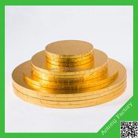 18inch wholesale custom gold mdf cake base
