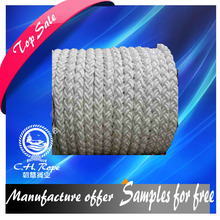 8 strand 60mm polyester nautical rope mooring dock line