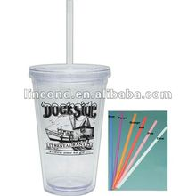 nice sharp and healthy plastic double wall Tumbler/Glasses/ water bottle made of Acrylic made of Acrylic/PP