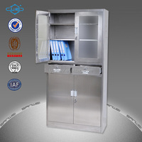 6 compartment stainless steel locker