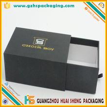 wholesale printed luxury rigid paper customised matt black pull out box