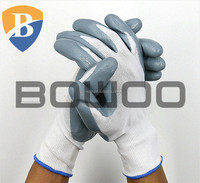 13 gauge Poly nitrile coated work glove farming glove