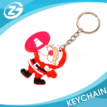 Factory Gift Item Cheap Soft Customized Promotional Wholesale Plastic PVC Keychain with Logo Print