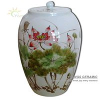 Decorative large Chinese Hand Paint Ceramic Storage Jars