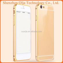 Olja 2015 Hot aluminum hybrid bumper case cover for iphone 5 iphone case, for iphone 5 aluminum metal bumper case with screw