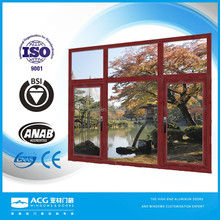 ACG Brand china manufacture high quality aluminum wood color window