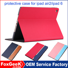 Hot sale tablet case, shockproof leather case for iPad Air smart case , sleep/wake leather 8 inch case for tablet
