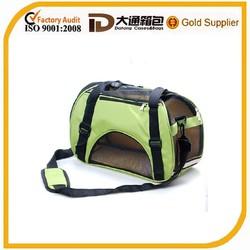 600D polyester fancy durable folding pet bag carrier for travel