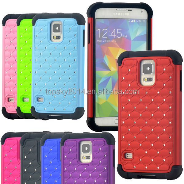 2014 New coming bling diamond case for samsung galaxy s5 ,soft silicone hard pc case for samsung s5