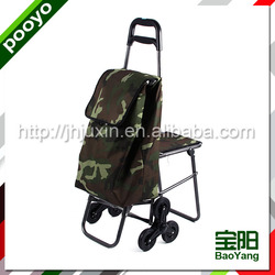 polyester fabric foldable supermarket cart hot selling cotton carrier bag
