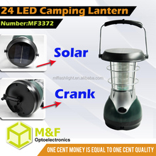 Solar Crank Rechageable Function LED Camping Lantern Competitive Price