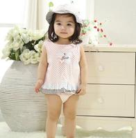SUMMER BABY GIRL'S CLOTHING SET,PRINCESS SKIRT TRIANGLE ROMPER AND SUN HAT