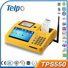 with free SDK TPS550 android pos terminal internal wireless