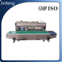 2015 Plastic Film Continuous Heat Band Sealer With Date Coding, sealing machine with coding