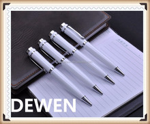 simple style white color metal business ballpoint pen,metal business twist pen