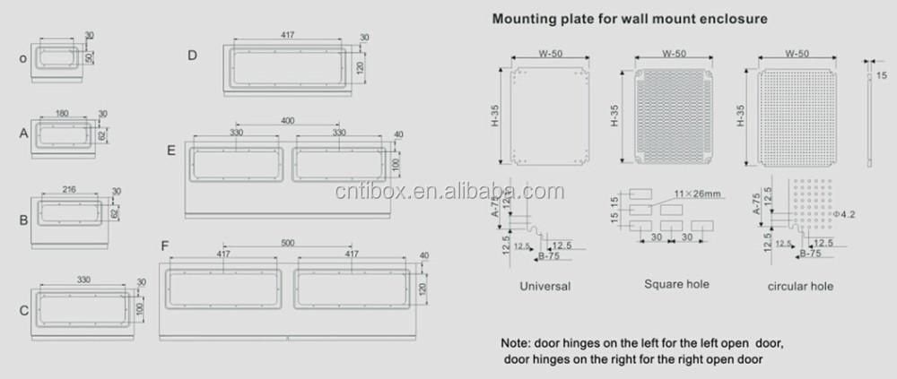 Electric Supplies Metal Box Steel Wall Mounting Enclosure