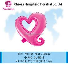 New EN71 custom foil hollow heart shape balloons