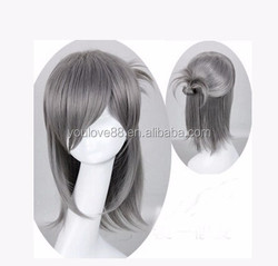 New arrival hight quality male grey anime cosplay wig for EVIL SURVIVOR 2