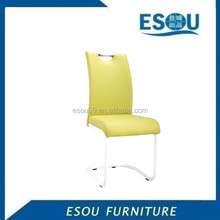 Modern U shape chrome and leather chair for dining room