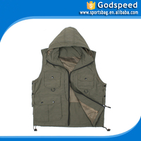 Outdoor leisure vest pocket Multi function autumn outdoor sell best green safety vest
