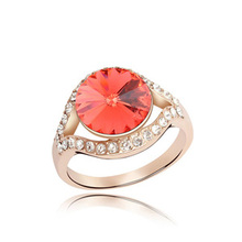 2014 nova chegada de cristal anéis baratos para meninas