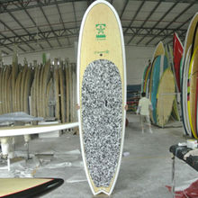 Stand Up Paddle Board with bamboo veneer