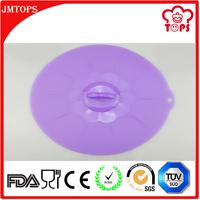Larger Size Diameter 32cm Flower Shape Round Silicone Pot Lid/ Premium Silicone Pot Cover Lid