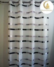 european wholesale curtains horizontal sheer jacquard fabric curtain for office