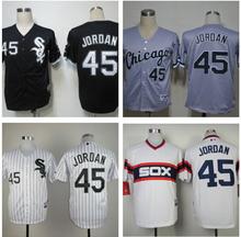 2014 free shipping Chicago White Sox 45 Michael Jordan black/white men's stitched Jose Abreu Jerseybaseball jersey