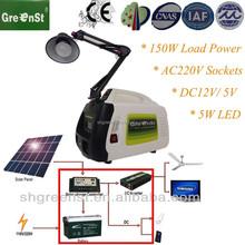 Lead-acid battery, polycrystalline pv panel,150W portable Home Solar Power System