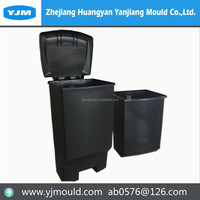 Zhejiang plastic trash Bin waste bin garbage bin injection mould China manufacturer