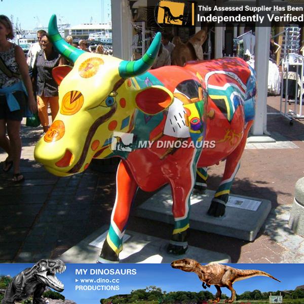 Mon dino jardin d coratif animaux statue en fiber de verre animaux vache au - Statut de jardin pas cher ...