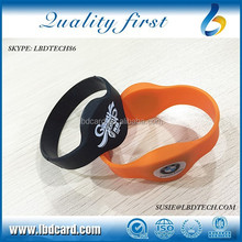 125KHz Closeloop Sillicone T5577 TK4100 NFC Bracelet/Wristband for Event Access Control