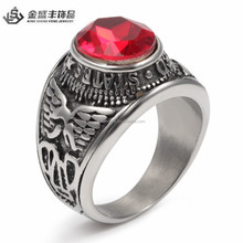 2015 wedding ring for women with red big stone women rings female rings