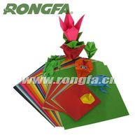 Attractive colored art card paper folding game