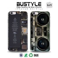 High quality popular phone cover for iphone 6 case silicone for iphone 6S case transparent side originality OEM
