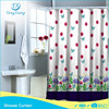 Butterfly Flower And Tree Printed Polyester Shower Curtian