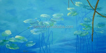 Talented Artists Hand Painted Another World Meaning Lotus Leaves Oil Painting