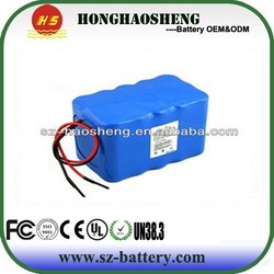 Customized battery pack 3S6P lithium ion battery 11.1v 12ah rechargeable electric vehicle battery